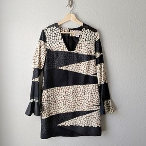 Diane von Furstenberg Giraffe Triangle Print Dress